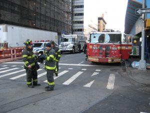 Feuerwehrübung am Ground Zero