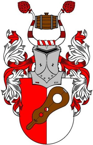 """Wappen der mittelalterlichen Taverne """"Zur Schandgeige"""""""