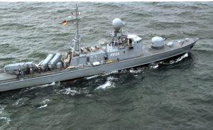 """Schnellboot """"Hyäne"""" in der Ostsee"""