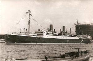 Dampfer auf der Elbe