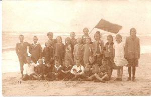 Kindergruppe am Strand von Westerland