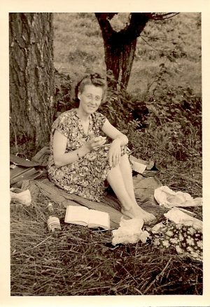 Picknick mit Buch