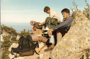 Bergwanderer auf dem GR 20 (Korsika)
