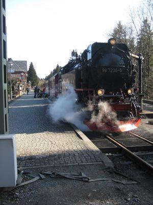 Abfahrt der Brockenbahn