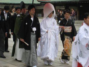 Japanisches Hochzeitspaar
