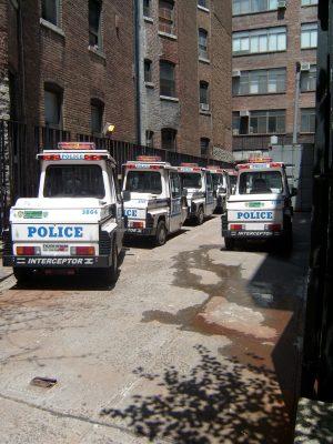 Polizei Parkplatz New York