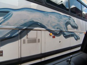 Greyhound Bus in New York