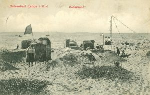 Strandleben, Badestrand im Ostseebad