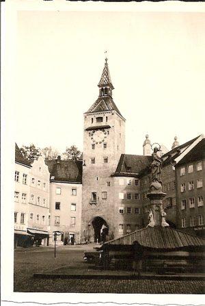 Mittelalterliches Stadttor in Landsberg/Lech