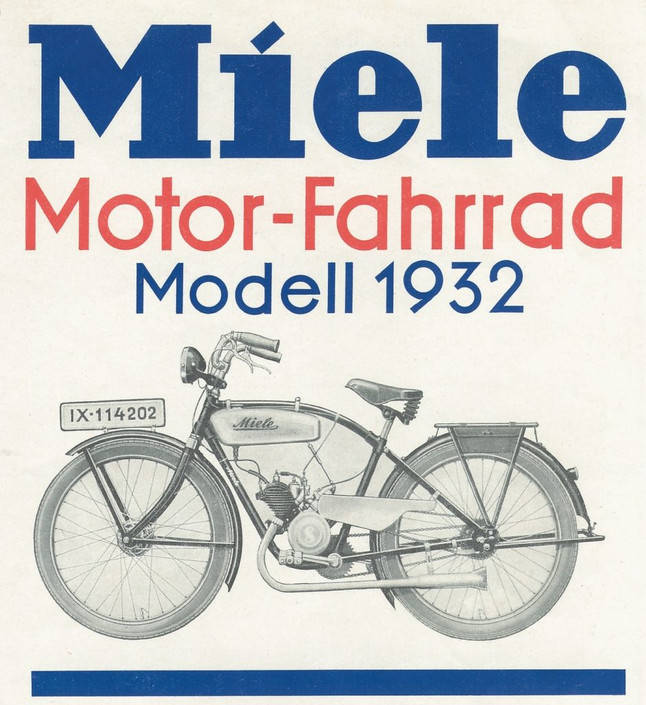 1932 1932 anzeige miele motor fahrrad fotos auf. Black Bedroom Furniture Sets. Home Design Ideas
