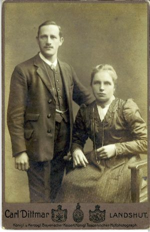 Paar im Fotostudio Dittmar, Landshut