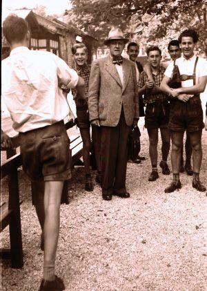 1954: Klassenausflug mit Studienrat Erich Schmidt