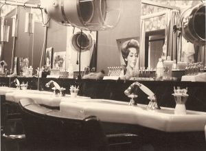 Friseur Geschäft Einrichtung 1961
