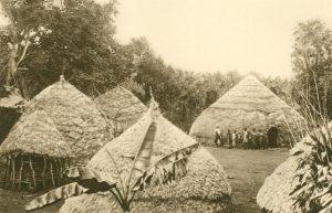 Hütten der Wadschagganeger, Afrika