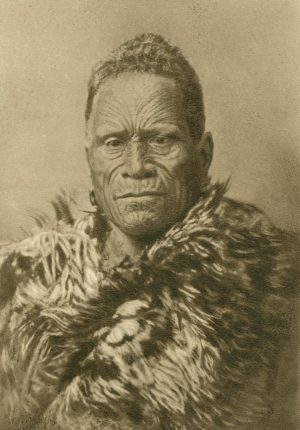Maori- Häuptling (94 Jahre alt), Neuseeland