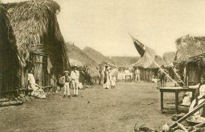 Dorf an der Tampico-Zweiglinie der Zentral-Eisenbahn, Tampico-Zweiglinie