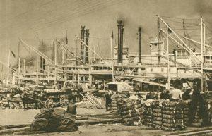 Verschiffung von Baumwolle, New Orleans
