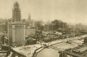 Stadt aus der Vogelperspektive, Chicago