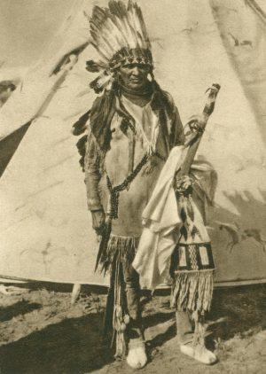 Ponca-Indianer im Kriegsschmuck, Oklahoma