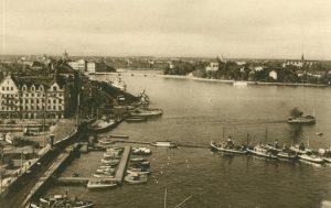 Stockholm vom Hafen aus, Stockholm