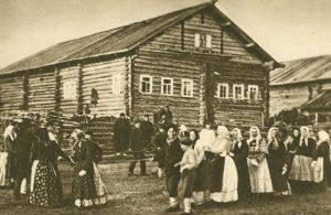 Dorfreigen am Vorabend eines Feiertages, Russlands