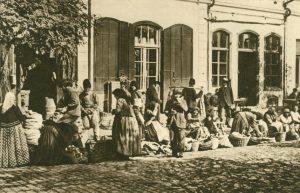 Markttag in Czernowitz, Rumänien