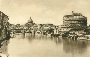 Rom, Blick über den Tiber auf den Petersdom, Italien