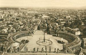 Rom von der Peterskuppel, Italien