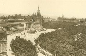 Wien. Ringstraße, Parlament, Rathaus, Österreich