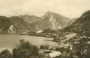 Traunkirchen gegen den Spitzelstein, Österreich