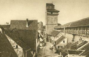 Nördlingen, Wehrgang zum Reimlinger Tor, Deutschland