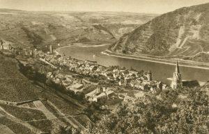 Der Rhein bei Oberwesel, Deutschland