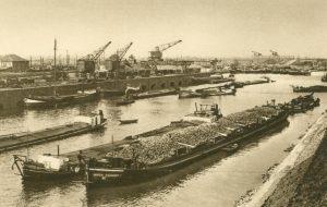 Der Hafen von Duisburg, Deutschland