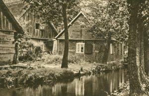Alte Häuser am Spreewald, Deutschland