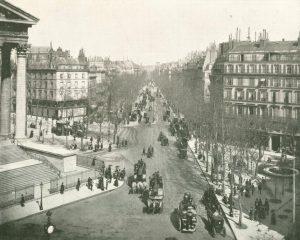 Boulevard de la Madeleine in Paris