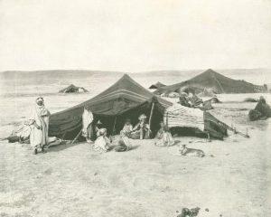 Beduinenlager in der Wüste
