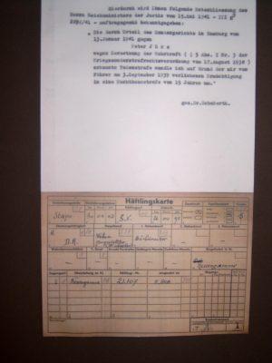 Nazi Urteil gegen St.Pauli Spieler Peter Jürs