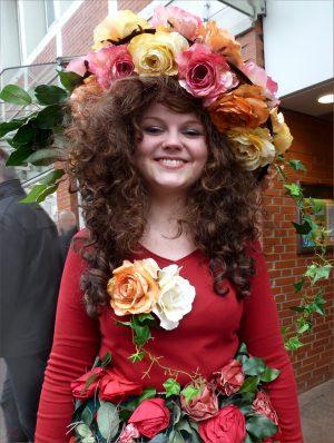 Blumenmaedchen in Lueneburg