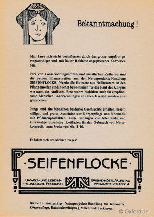 SEIFENFLOCKE – Werbung 1980