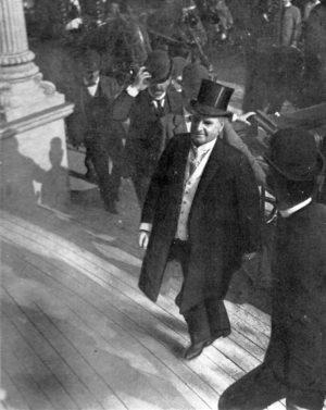 Letzte Aufnahme von Präsident William McKinley vor dem Attentat