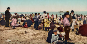 Am Strand von Coney Island, New York